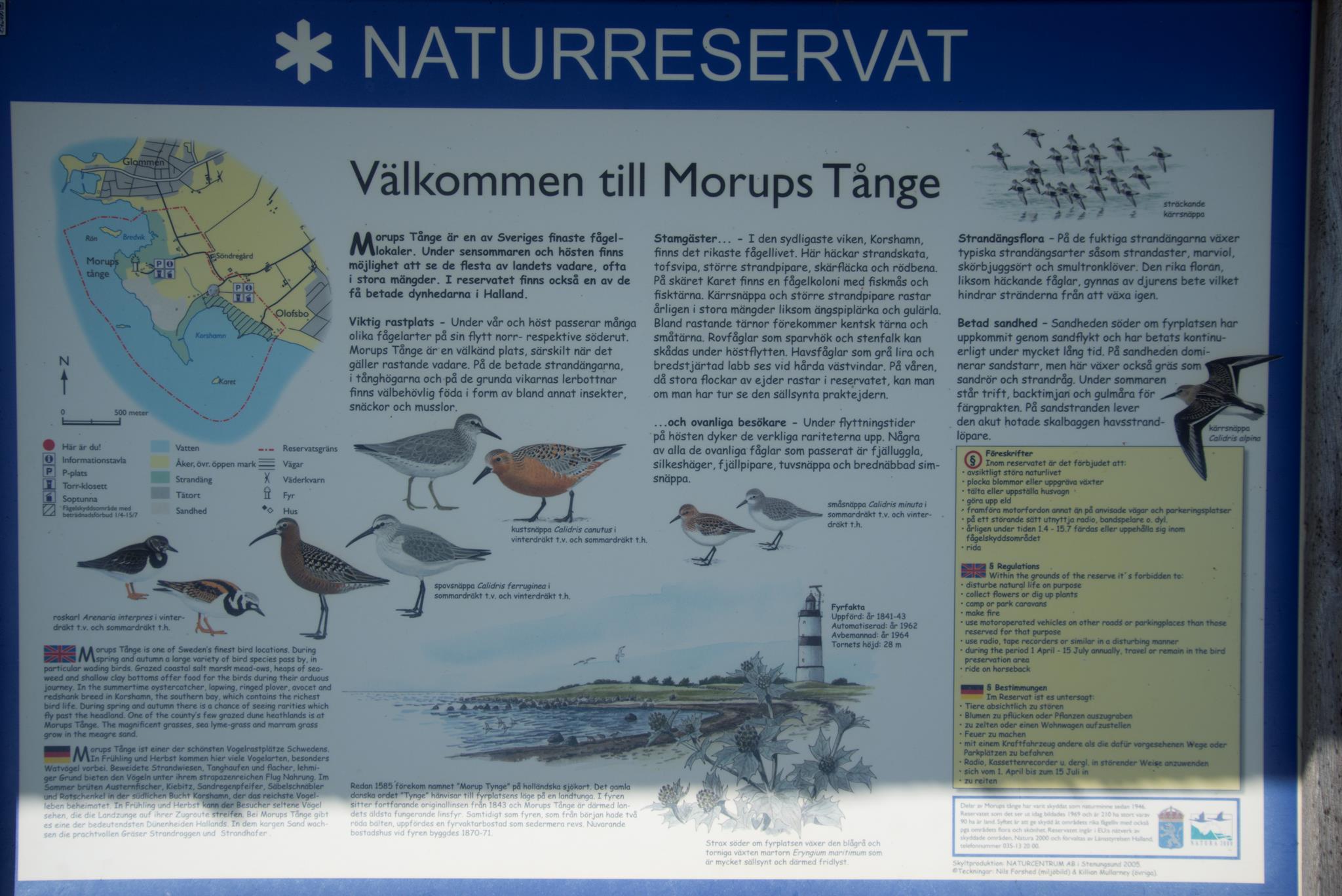 Morups Tånge - Informationstavlan