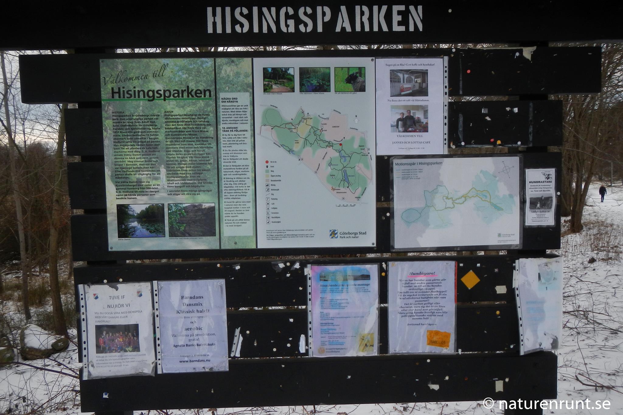 Karta - översikt över Hisingsparken