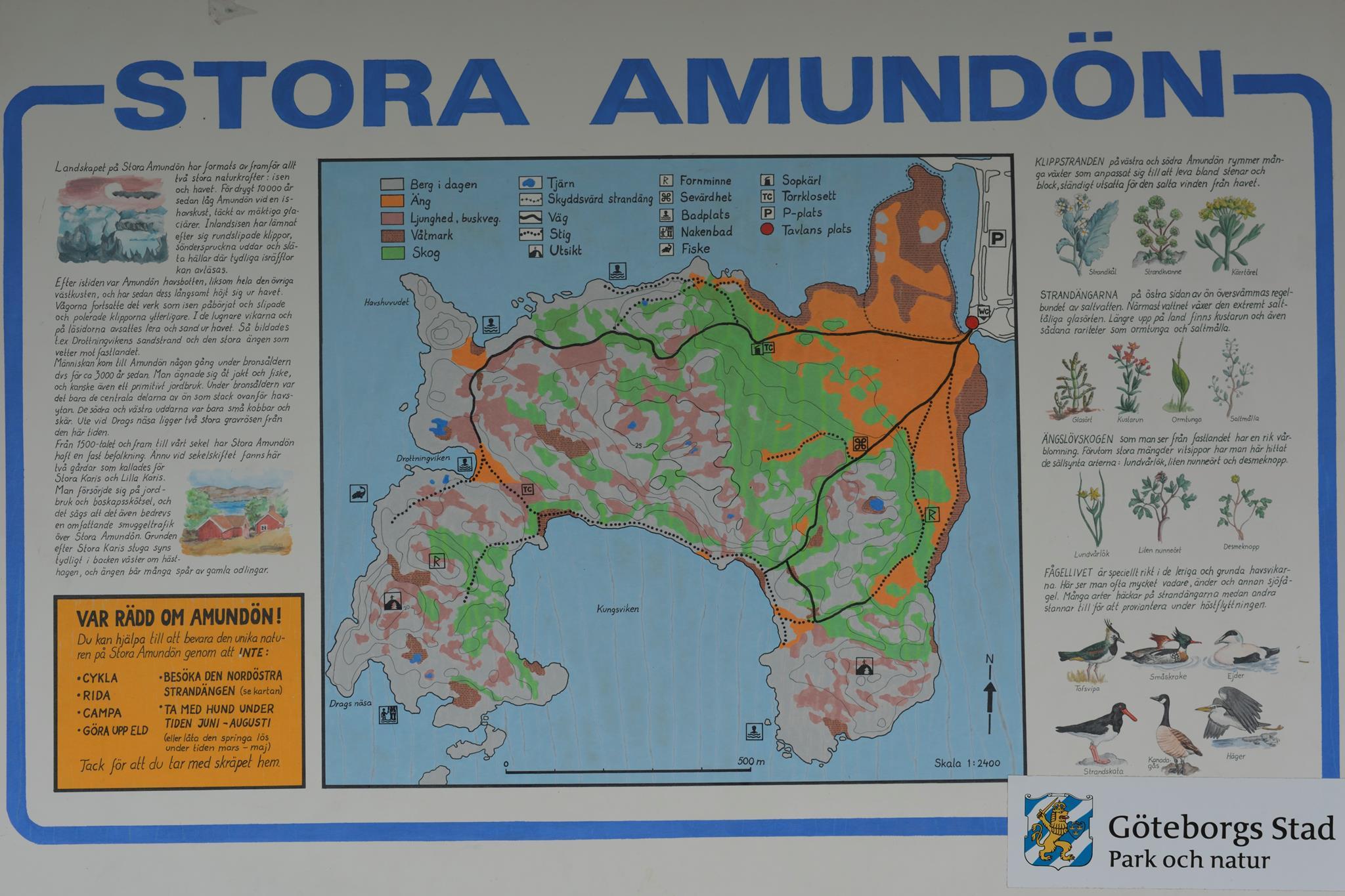 Stora Amundön Vandring Naturvårdsskydd Saknas